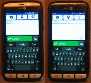 Seniorensmartphone Doro Liberto 820 Tastaturen Vergleich