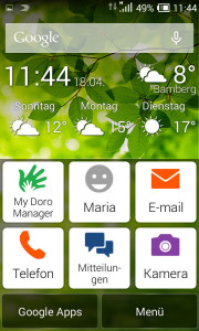 Doro Liberto 820 Mini Homescreen